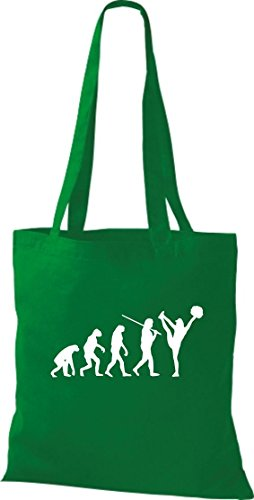 Krokodil Stoffbeutel Evolution Cheerleader Cheerleading Kostüm Fun Sport Tanz Baumwolltasche, Beutel, Shopper Umhängetasche, Farbe kelly (Tanz Kostüme Kelly)