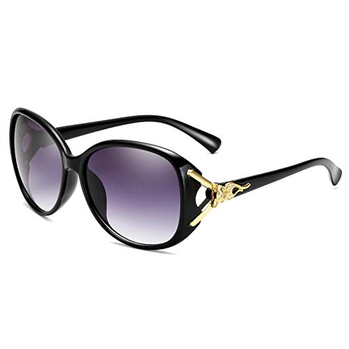 CYCY Sonnenbrille rundes Gesicht Sonnenbrille weibliche koreanische Version der Flut Straße schlägt einfache Brille allmählich rot, Leuchtend schwarz