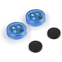 Awsgtdrtg Luz De Advertencia De La Puerta del Coche,Luces LED Reflectoras Y Magnéticas, Impermeables E Inalámbricas con Sistema Interruptor Instantáneo ON/Off Anticolisión,Blue