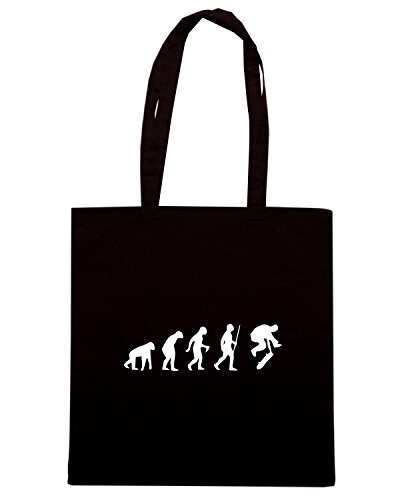 T-Shirtshock - Borsa Shopping EVO0025 Funny Skateboarder Evolution Maglietta Nero