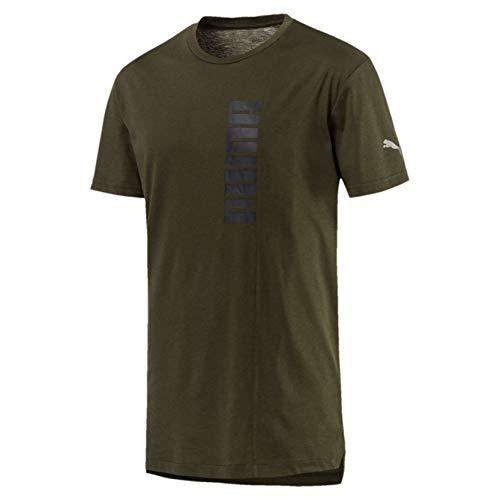 Ärmelloses Graphic T-shirt (Puma Herren Energy Triblend Graphic Tee T-Shirt, Forest Night, L)