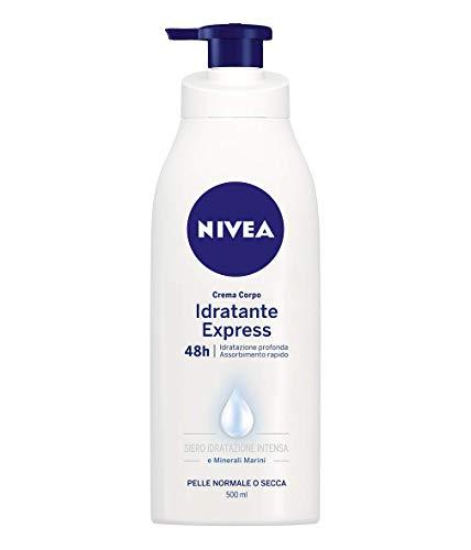 Nivea Crema Corpo Idratante Express 48h Idratazione Profonda, Pelle Normale o Secca, 500 ml