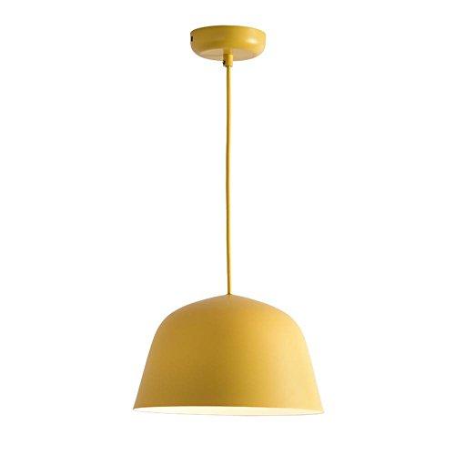 Lampadario seeksung metal e27 singola testa, luci ristorante moderno, camera minimalisti in vari colori 1 pz [classe energetica a +], yellow