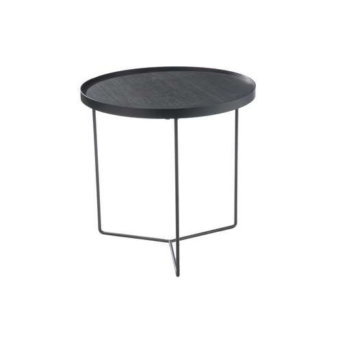 Jolipa - Table gigogne ronde en Bois/métal marron H50xØ50.5cm