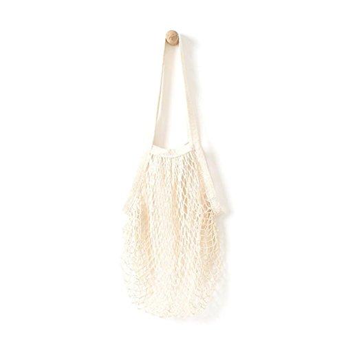 Beige Tote (HCFKJ Mesh Net SchildkröTe Tasche String Einkaufstasche Wiederverwendbare Fruit Storage Handtasche Totes (BEIGE))
