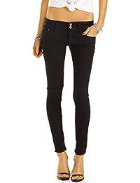 Bestyledberlin Damen Jeans, Basic Röhrenjeans, Klassische Slim Fit Hose, enge Hüftjeans j38f