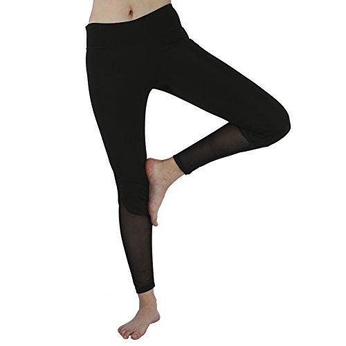 Yoga Pants Women Sports Gym Leggings Running Fitness Grenadine Leggings Training Pantaloni sportivi(Nero-03) 02