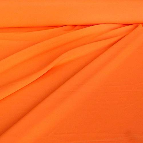 f universal Stoff ALLROUND knitterarm - Meterware am Stück (Neon-Orange) ()