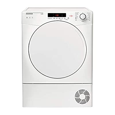 Hoover HLC8DF White Condenser Tumble Dryer with 8kg capacity, B Energy Rating and 4 Sensor Drying Programmes