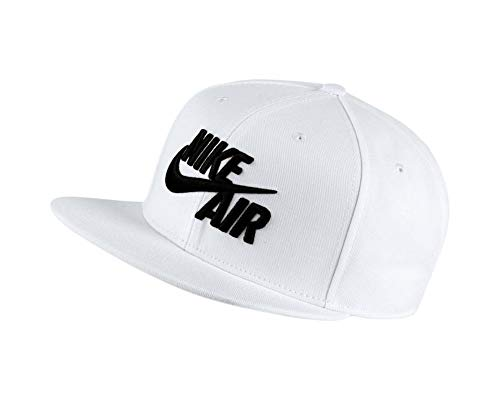 Nike U NSW PRO Cap AIR Classic Hat, White/Black, One Size -