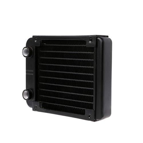 sdfghzsedfgsdfg Freies Verschiffen 360/240/120 / 80mm Aluminium Computer-Kühle Wasserkühlung 18 Rohr Kühlkörper CPU Wärmetauscher schwarz