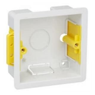 Pack of 10 x Appleby SB619 1 Gang 35mm Dry Lining Wall Electrical Back Boxes