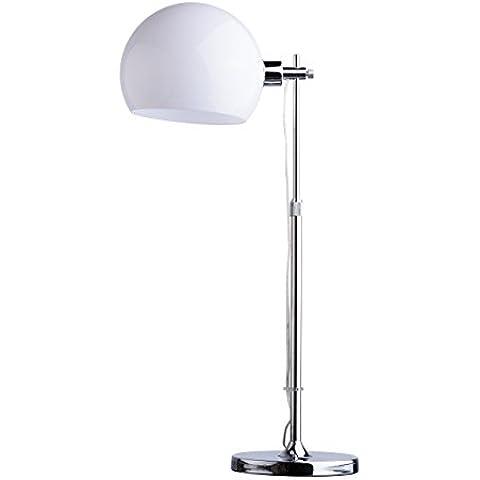 Lampada da tavolo tecno moderna industriale contemporaneo colore cromo lucente