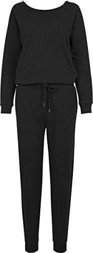 Traum Terry (Urban Classics Damen Ladies Long Sleeve Terry Jumpsuit, Schwarz (Black 00007), Small)