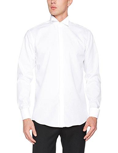 Seidensticker - camicia da cerimonia classico, uomo, bianco (weiß (01 weiß)), 47cm- de