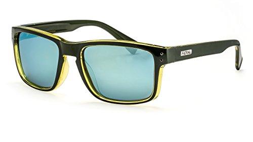 Filtral Polarisierte Herren-Sonnenbrille/Sportliche Sonnenbrille in eckiger Form mit verspiegelten Gläsern F3025608