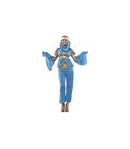 Imagen de disfraz de bailarina árabe azul para mujer