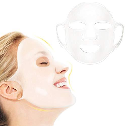 Couverture de masque de silicone, couverture réutilisable de masque de silicium réutilisable d'oreille accrochante pour le masque de feuille - empêchent l'évaporation d'humidité