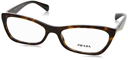 PRADA Brillengestell PR 15PV 2Au1O1 Havanna 53MM Prada Brillengestelle Männer