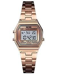 relojes de mujer, Reloj deportivo para mujer Reloj militar Reloj digital 30 m Alarma Calendario