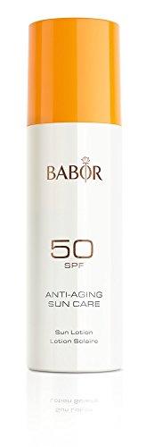 BABOR High Protection Sun Lotion SPF 50, leichte, schnell einziehende Sonnenschutzlotion für Gesicht und Körper, hoher LSF, 200ml
