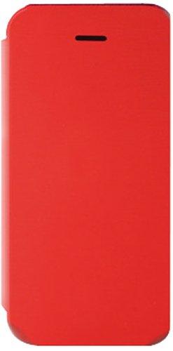 KSIX–Housse folio pour Apple iPhone 5(rabat avant avec ouverture type livre) rouge