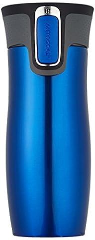 Contigo West Loop 470 ml 20 x 7 x 7 cm Autoseal Stainless Steel Travel Mug, Blue