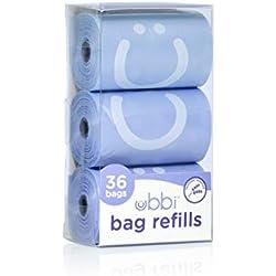 Ubbi On The Go Recharges de sacs jetables parfumés à la lavande