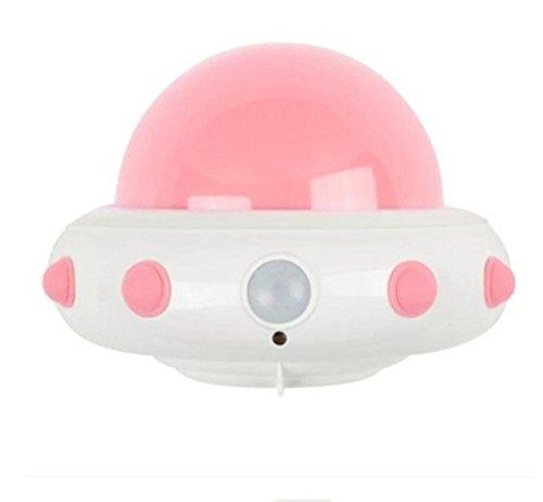 HHORD UFO mehrfarbige Nachtlicht eingefügt Brust-Fütterung Kinder mit schlafen Baby Fütterung Ladung Fernbedienung Sensor Nachtlicht , 2 (Kuppel Brust)