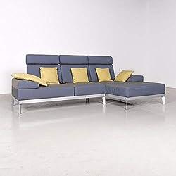 Rolf Benz Molto Designer Stoff Ecksofa Blau Sofa Couch #7338