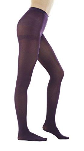 STYLEGAGA Damen Strumpfhosen, 80 Denier, halbblickdicht, einfarbig, 2 Paar - Violett - X-Large -