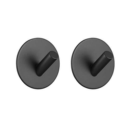 Homovater 304 - Perchero de acero inoxidable con gancho para toallas, autoadhesivo, para cocina, baño, lavatorio, armarios