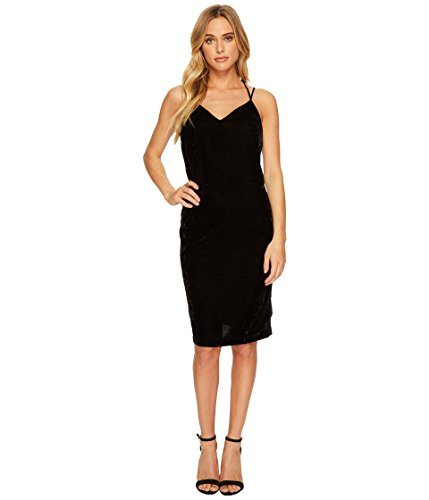vet Slip Dress w/ Tuxedo Trim Sides Black Large (Tuxedo Dress Womens)