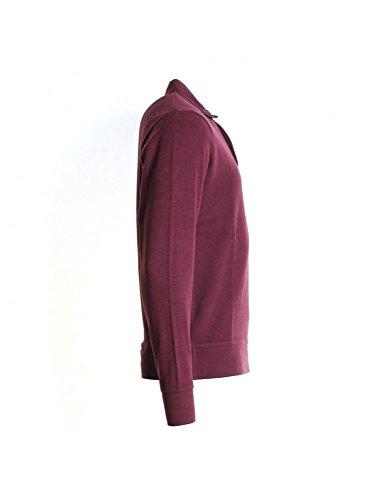 GANT Sacker Rippe 2 Knopf Herren Pullover Port Red
