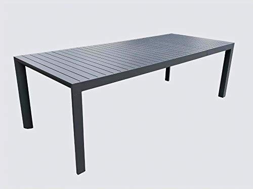 Tavolo Da Terrazzo Allungabile.Tavolo Da Giardino Allungabile In Alluminio Colore Antracite