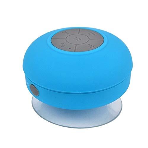 Mini subwoofer portatile doccia altoparlante impermeabile bluetooth senza fili vivavoce ricevere chiamate musica aspirazione microfono per telefono-blu