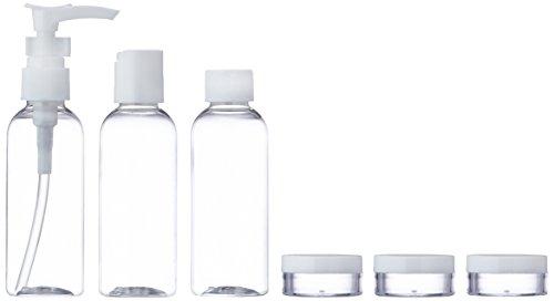 Travel Bottle Set Body and Beauty 7 Pieces with Bag - Reiseflaschen Set 7-teilig mit Tasche