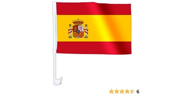 1 x Autofahne Autoflagge 45 x 30 Spanien Auto Fahne Fahnen Flagge Flaggen EM 2012 mit Halterung