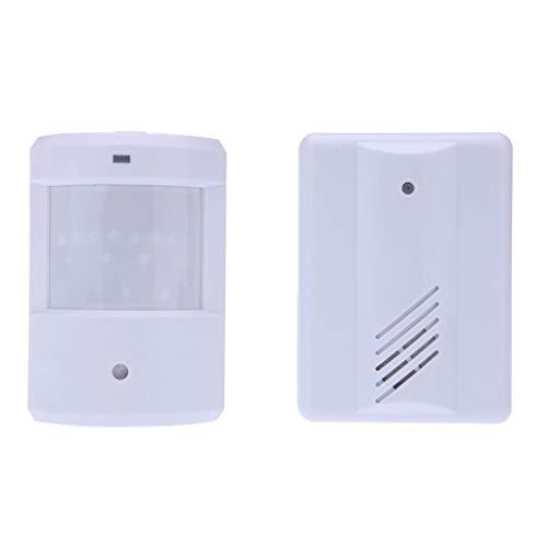 Tianya Campana de induccion,Seguridad de la alarma del sensor de movimiento del sistema de alerta inalámbrico,infrarrojos de la patrulla del camino (A)