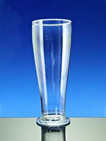 Cup-Service GmbH Mehrweg Weizenbiergläser SAN glasklar bruchfest spülmaschinenfest dt. Fertigung 500ml 24 Stück