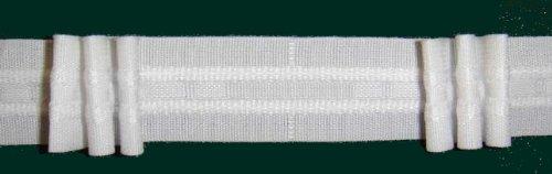 Ruther & Einenkel Faltenband mit 3 Falten, 26 mm, weiß, 200% / Aufmachung 10 m -