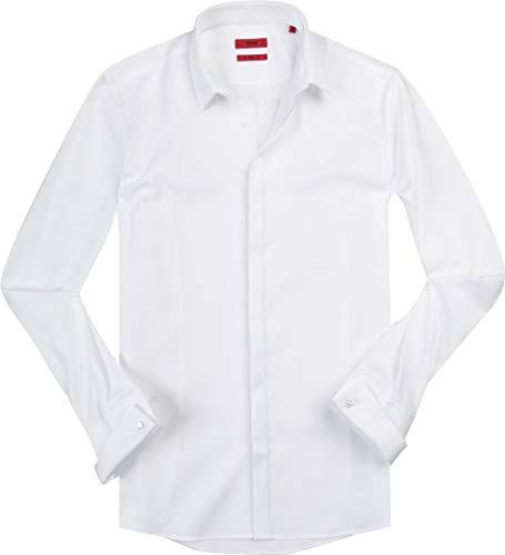 Hugo Herren Hemd Oberhemd, Größe: 38, Farbe: Weiß - Boss Hugo Smoking
