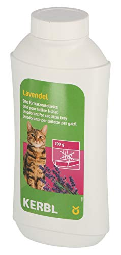 Kerbl 82673 Deo-Konzentrat für Katzentoilette, Lavendel, 700g - Deodorant Lavendel