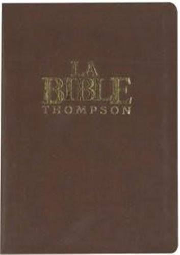 Bible Thomson souple luxe vynil, marron Colombe