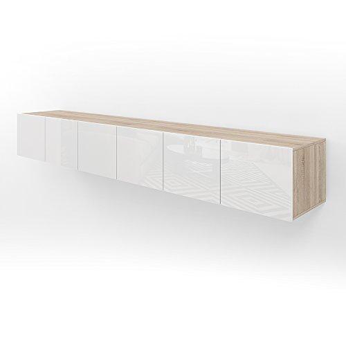VICCO TV Lowboard Sideboard Wandschrank Fernsehschrank Wohnwand Hängeschrank (Sonoma, 240cm)