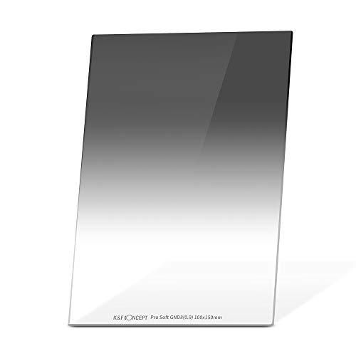 K&F Concept Soft GND8 Verlaufsfilter ND0,9(3 Stops) Rechteckfilter 100x150x2mm