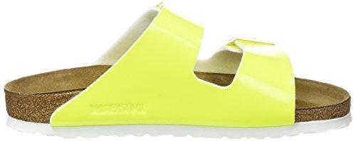 Birkenstock Arizona, Sandales Plateforme femme Jaune (Neon Yellow)