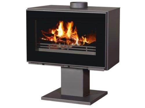 Estufa de leña chimenea de 14kW moderno Log quemador chimenea bajo las...