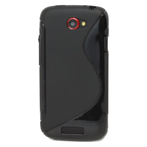TPU Case for HTC One S / Ville - Black (S Shape) - Fosmon Crystal