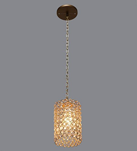 The Brighter Side crystal cylinder pendant light- small For Home And Kitchen Walls Space